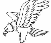 Free coloring and drawings Eagle hunting Coloring page
