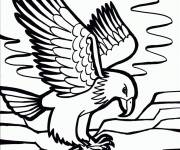Free coloring and drawings Eagle on the sea Coloring page