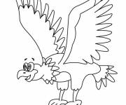 Free coloring and drawings Funny eagle Coloring page