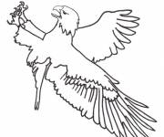 Free coloring and drawings Maternal eagle Coloring page