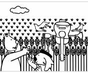 Coloring pages Cartoon fields