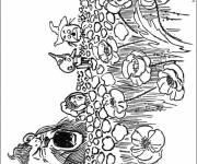 Coloring pages Children's fields