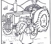 Coloring pages Farmer in the Fields online