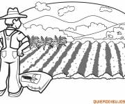 Coloring pages Maternal agriculture