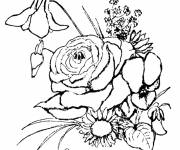 Coloring pages Bouquet of flowers