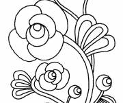 Coloring pages Color Artistic Flower