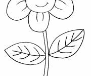 Coloring pages Cute flower