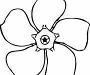 Free coloring and drawings Easy flower Coloring page