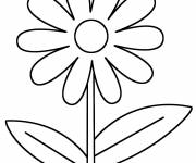 Coloring pages Easy flower in color