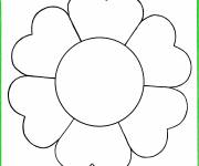 Coloring pages Flower easy image