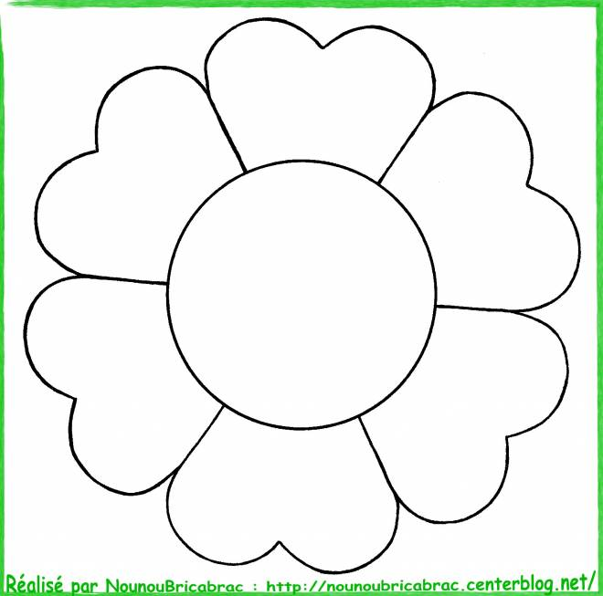 Free coloring and drawings Flower easy image Coloring page