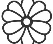 Coloring pages Flower in color