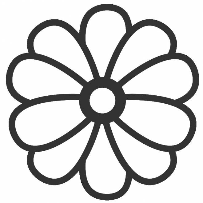 Free coloring and drawings Flower in color Coloring page