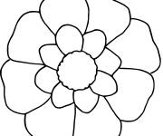 Coloring pages Flower in white and yellow