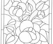 Coloring pages Flower painting