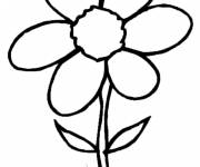 Coloring pages Flower with six petals