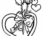 Coloring pages Flowers and Love