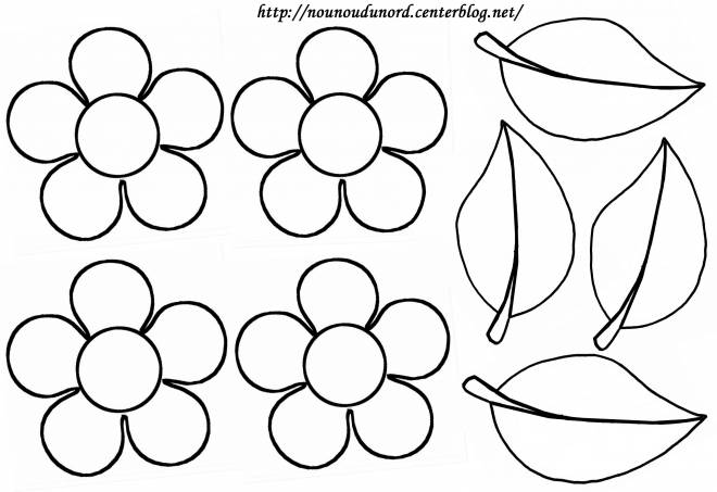 Free coloring and drawings Flowers and petals Coloring page