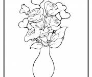 Free coloring and drawings Flowers in a vase Coloring page