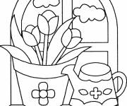 Coloring pages Flowers in the house