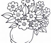 Coloring pages Flowers in the vase