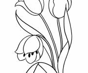 Coloring pages Maternal flower