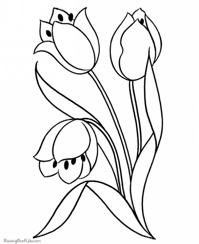 Free coloring and drawings Maternal flower Coloring page
