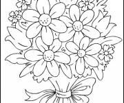 Coloring pages Multicolored flowers