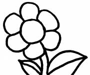 Coloring pages Pleasant flower