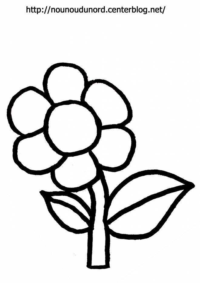 Free coloring and drawings Pleasant flower Coloring page