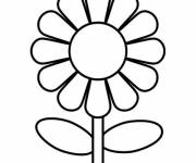Coloring pages Simple flower to decorate
