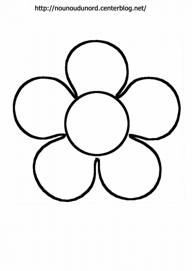 Free coloring and drawings Single flower Coloring page