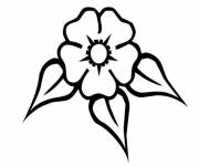Coloring pages Vector flower