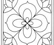 Coloring pages Vector Flower Painting