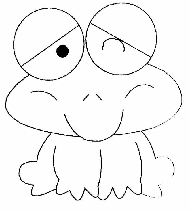 Free coloring and drawings Baby Frog Coloring page