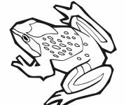 Coloring pages Black and white vector frog