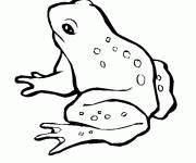 Free coloring and drawings Chopping frog Coloring page