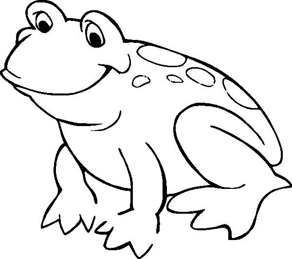 Free coloring and drawings Easy frog Coloring page