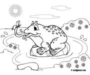Coloring pages Eating frog
