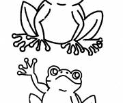 Coloring pages Frog greets you