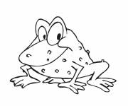 Coloring pages Frog in a good mood