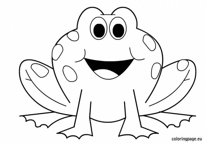 Free coloring and drawings Frog in black and white Coloring page