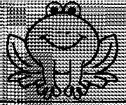 Coloring pages Frog sitting silhouette