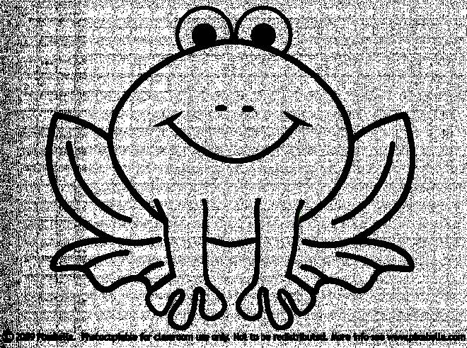 Free coloring and drawings Frog sitting silhouette Coloring page