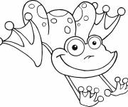 Coloring pages Frog while jumping