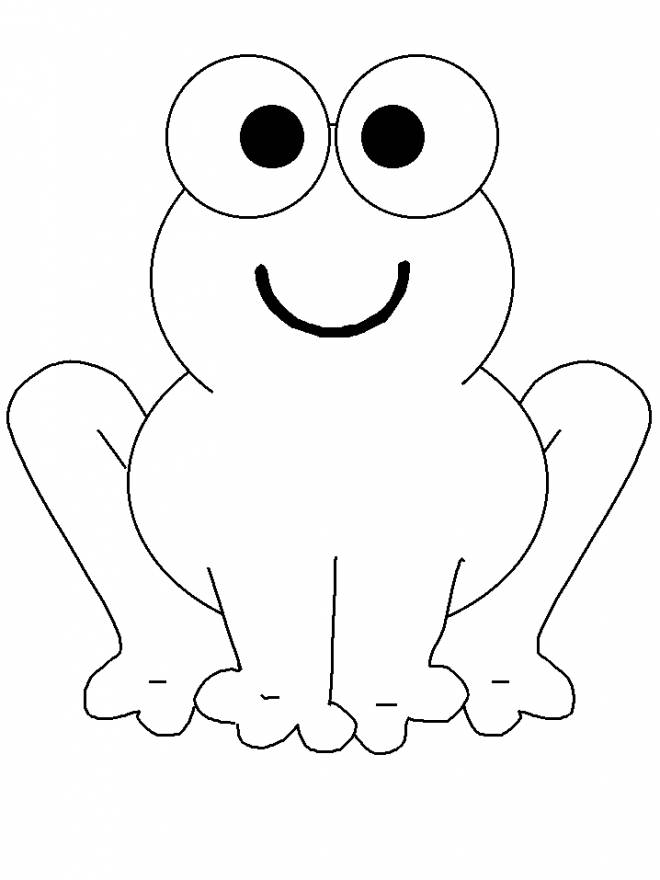 Free coloring and drawings Frog with smile on face Coloring page