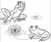 Coloring pages Frogs in love
