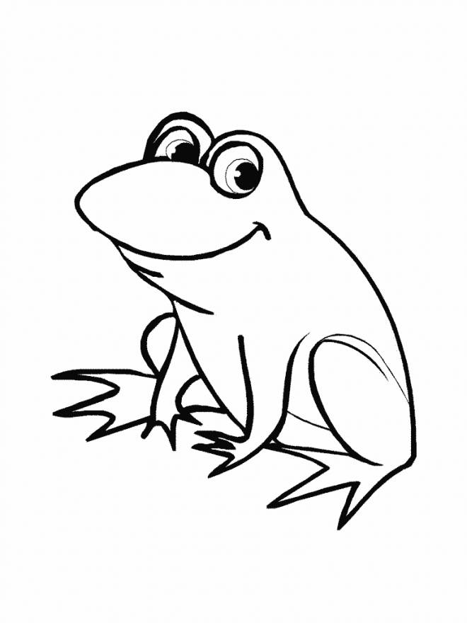 Free coloring and drawings Funny frog Coloring page