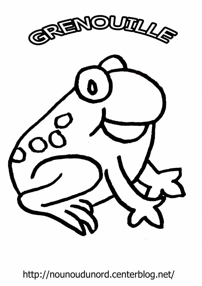 Free coloring and drawings Happy frog Coloring page