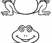 Coloring pages Identical frogs